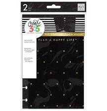 NEW MAMBI The Mini Happy Planner -Snap-In Hard Cover - Black Gold Dots