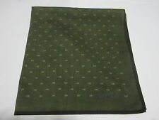 "USE Olive Green GEOMETRIC LOGO PATTERN COTTON 18""HANDKERCHIEF FOR MEN"