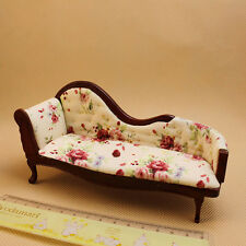 1:12 Children Dollhouse Miniature Furniture Wooden Recliner Chaise Couch Sofa