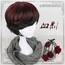 Gothic Lolita Harajuku Black + Red Gradient  Cosplay Daily Men's Wig Short Hair