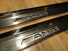 Mercedes Benz C Class W204 Coupe 2 Pc AMG BRABUS MB Illuminated Sill Plates