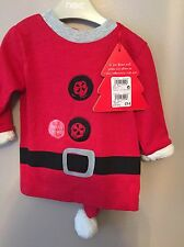 NEXT BABY Babbo Natale musicale Top & Jingle Cappello 12-18m piccolo difetto ⭐ BNWT RRP £ 14 ⭐