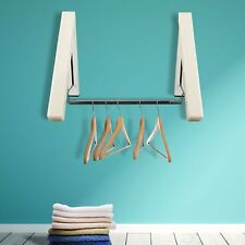 Wall Mount Clothes Hanger Laundry Drying Rack Folding Storage Collapsible Holder