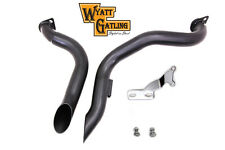 "NEW 2""  BLACK BONE SHAKER  PIPES 4 SHOVEL HEAD HARLEY 1970 -1984"