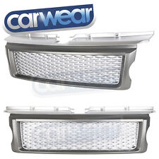 LAND ROVER RANGE ROVER SPORT L320 05-09 SUPERCHARGED LOOK MESH GRILLE GRAY/SILVE