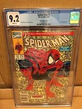 spiderman 1 cgc 9.2 white pages polybag
