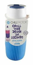 Chill Factor Drinks Bottle Chiller 600ml - Blue