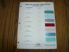 1962 AMC Rambler DuPont Color Chip Paint Sample
