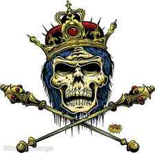King Doom Sticker Decal Dirty Donny Crowned Skull DD31