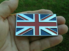 ~ BRITISH FLAG METAL CAR BADGE Chrome Emblem *NEW & UNIQUE fits Jaguar England