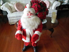 "VINTAGE MID CENTURY 37"" CHRISTMAS SANTA CLAUS STORE WINDOW DISPLAY HAROLD GALE"