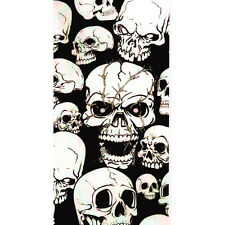 HALLOWEEN DOOR POSTER SCARY HORROR MANY SKULLS POSTER DECORATION WALL PARTY