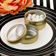 100 Gold Metal Mint Candy Tins Wedding Bridal Shower Party Favors