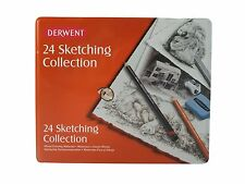 Derwent bosquejado Collection Tin Set De 24 De Dibujo Y Bocetos