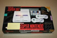 Super Nintendo SNES Super Set Console Box + Manuals + Baggies - MINT, NEW COND!