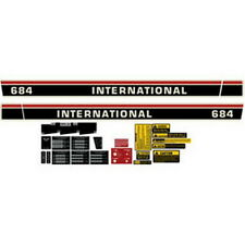 NEW 684 INTERNATIONAL HARVESTER FARMALL TRACTOR COMPLETE DECAL KIT HIGH QUALITY