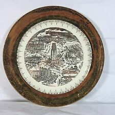 Vintage Souvenir Collector Plate Miami Florida Tourist Sites 22K Gold Imprint