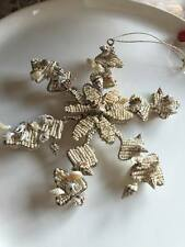 NEW POTTERY BARN BEADED SEASHELL SNOWFLAKE ORNAMENT