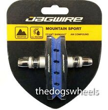 Jagwire V-Brake Brake Pads Blocks MTB Bicycle Bike V Brake Brakes Blue