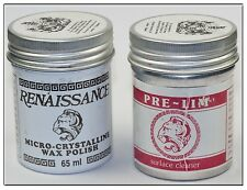 RENAISSANCE WAX & PRE-LIM SURFACE CLEANER TWIN PACK 65ml