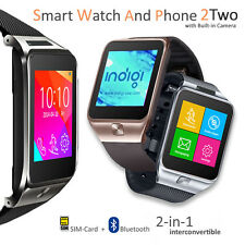 Unlocked GSM Watch Cell Phone Bluetooth Camera MP3 Radio Pedometer Sleep Monitor