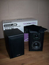 Pair Acoustic Solutions AV21 HiFi Speakers Black Finish Cases Boxed Unused