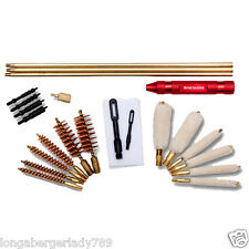 WINCHESTER 24 PIECE GUN CLEANING KIT RIFLE PISTOL SHOTGUN ROD BRUSH JAG SET PLUS