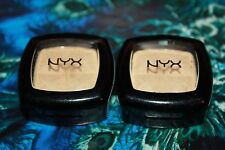 NYX Single Eye Shadow #ES07 HIGH LIGHT  LOT OF 2 + FREE EYE LINER BROWN