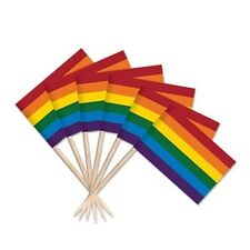 Gay Pride Party Decoration Rainbow Flag Toothpick Pack of 36
