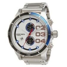 Diesel DZ4313 NewOriginal* DOUBLE DOWN 48 Chronograph Red White Blue*Men's Watch