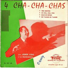 "RARE JORDI COLL ""TRES BESITOS"" LATIN JAZZ 50'S EP TYPIC 121"