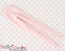 ☆╮Cool Cat╭☆【PP-104】Pullip Pantyhoses Doll Socks # Thin Stripe Pink+White
