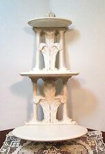 """Vtg Antique Syroco Wood 3 Tier Wall Shelf French Country Shabby Cottage Chic 20"""""""