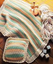 PRETTY Star Stitch Baby Blanket Set/Crochet Pattern Instructions