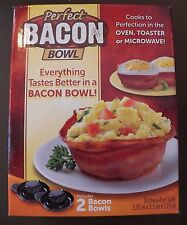 Perfect Bacon Bowl 2 Pc As Seen On TV Kitchen Gadget Cooker Microwave Oven Cook