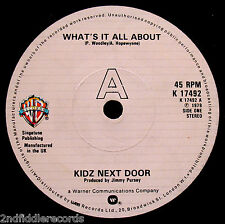 KIDZ NEXT DOOR-What's It All About-Rare UK Punk Rock 45-WARNER BROS. #K 17492