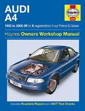 [3575] Audi A4 1.6 1.8 Petrol 1.9 Turbo Diesel 95-00 (M to X Reg) Haynes Manual