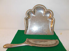 Antique Silver Colored Tin Butler Dust Tray Crumb Catcher