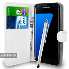White Wallet Case PU Leather Book Cover For Samsung Galaxy S7 Edge G935 Mobile