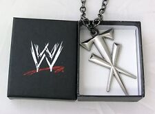 Undertaker WWE Cross Pendant with silver link chain