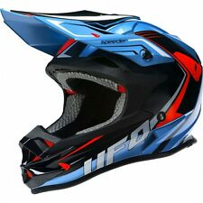 2017 UFO Motocross MX Enduro Helmet Speeder Medium 57-58cm Sky Blue Black Red
