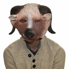 Latex Full Head Overhead Goat Ram Funny Animal Cosplay Halloween Fancy Mask