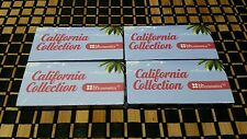 4 New BHCosmetics California Collection 3-Color Eye Shadow Sample Paks