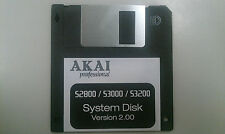 AKAI S2800 / S3000 / S3200 - Operating System bootdisk V2.00 Floppy - Not XL