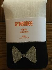 *NWT GYMBOREE* Girls CITY KITTY Ivory Tights with Gold Sparkle Bow Size XS 4