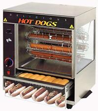 STAR HOT DOG & BUN BROILER W/ CRADLE WHEEL & 36 DOGS/32 BUNS CAP. - 175CBA