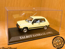 TALBOT SAMBA GL SOFT YELLOW 1981 1:43 MINT!!
