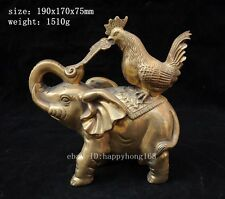 china chinese fengshui brass ruyi animal elephant chicken Rooster lucky statue