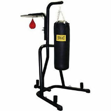 Everlast Dual Station Heavy Punching Bag Boxing Stand Fitness MMA Gym