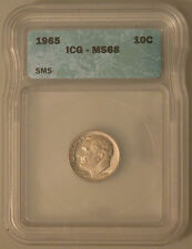 1965 SMS Roosevelt Dime ICG MS68.